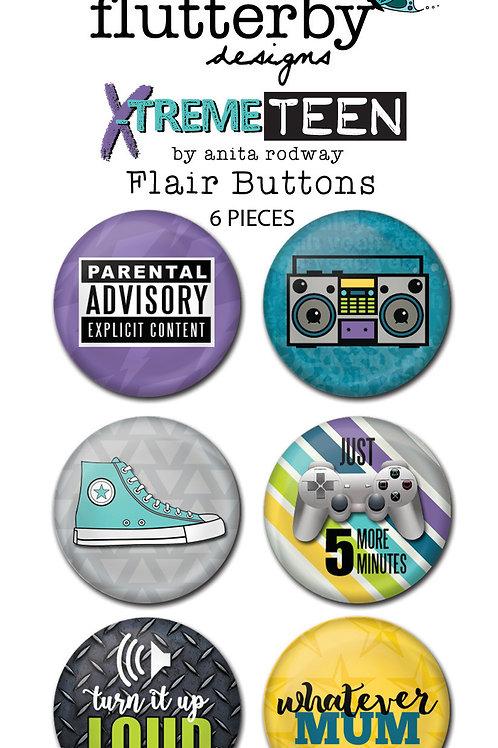 'XTREME TEEN' FLAIR BUTTONS - SET 2