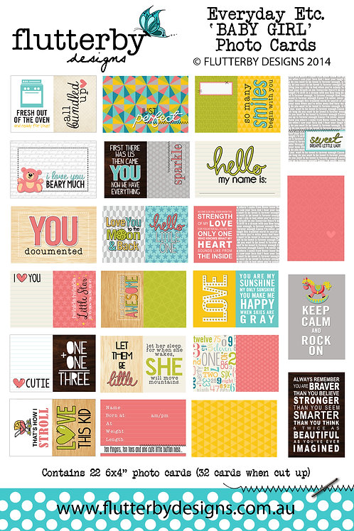 'BABY GIRL' Everyday Etc Cards