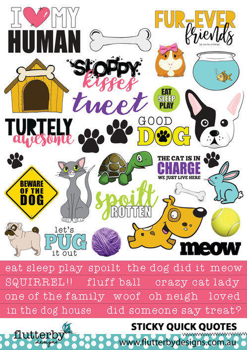 Fur Ever Friends Sticky Quotes Flutterbydesigns