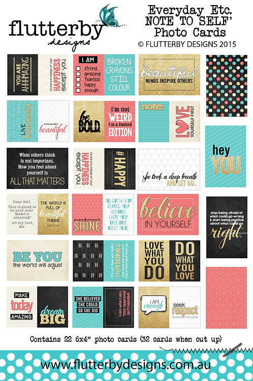 'NOTE TO SELF' Everyday Etc Cards