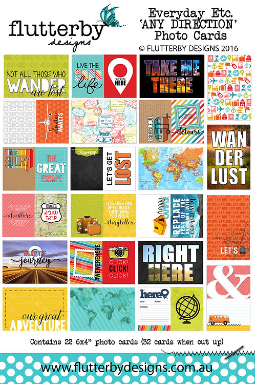 'ANY DIRECTION' Everyday Etc Cards