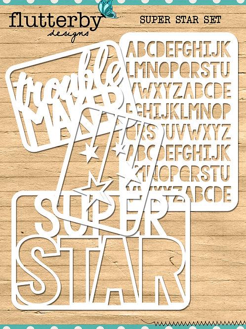 'SUPER STAR' Fussy Cuts