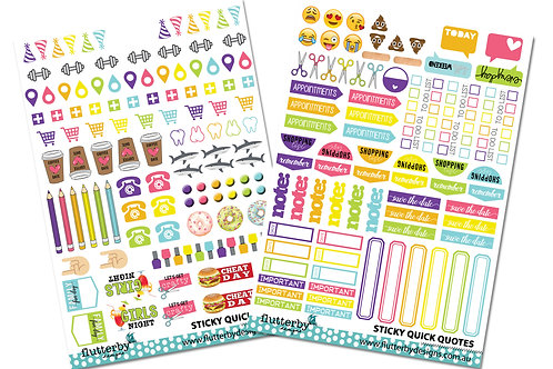 Planner Stickers 'Icons'