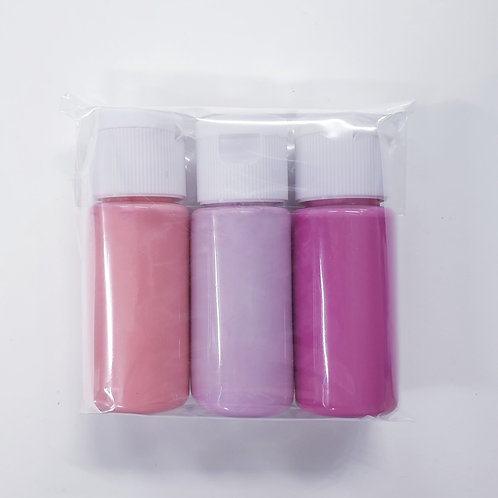 Flutter Colour Paint SMALL SET - Pinks Set
