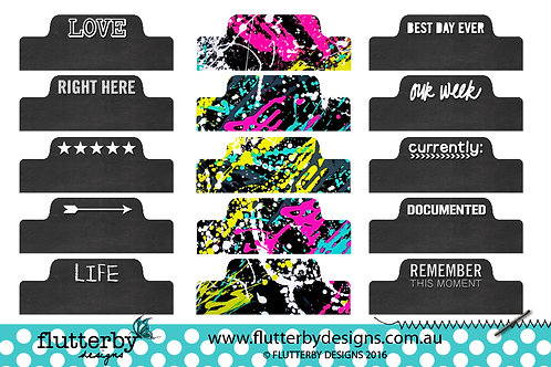 'Neon Splatters' - Page Tabs