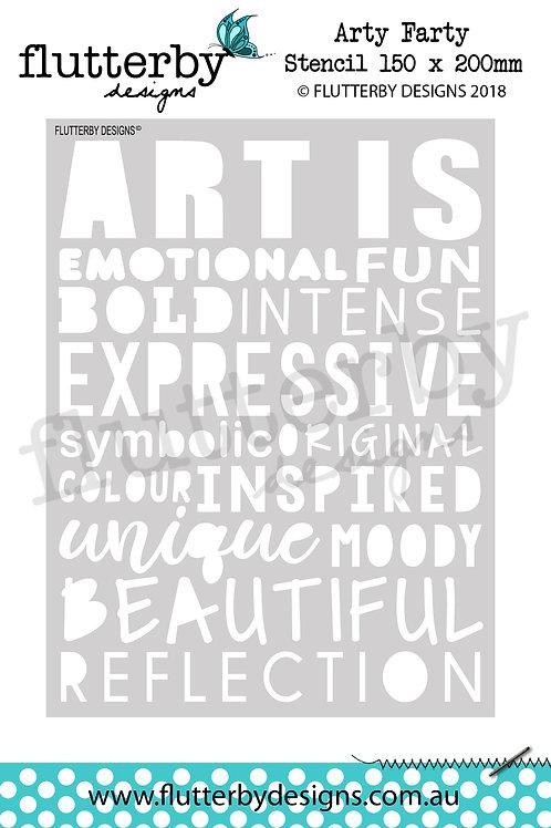 'Arty Farty' Stencil 150 x 200mm