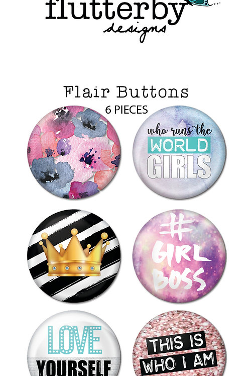 'We Run The World' FLAIR BUTTONS Set 2
