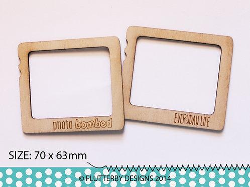 'Insta Frames - Photo Bomb/Everyday Life' Wood