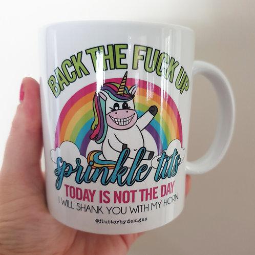 'Back The F Up' Coffee Mug
