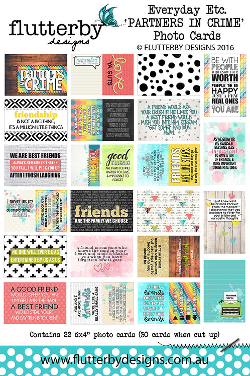 'PARTNERS IN CRIME' Everyday Etc Cards