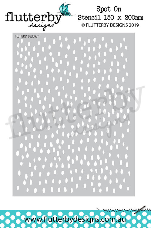 'Spot On' Stencil 150 x 200mm