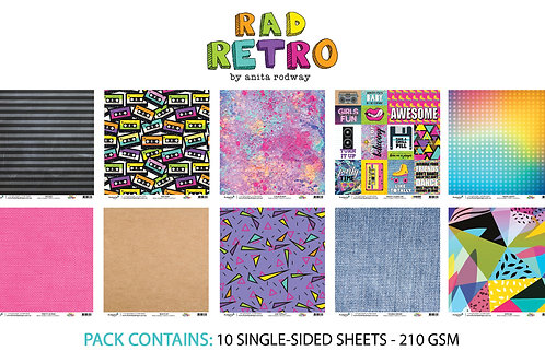 12x12 'Rad Retro' Paper Pack