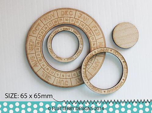 'Calendar Wheel' Wood Veneer