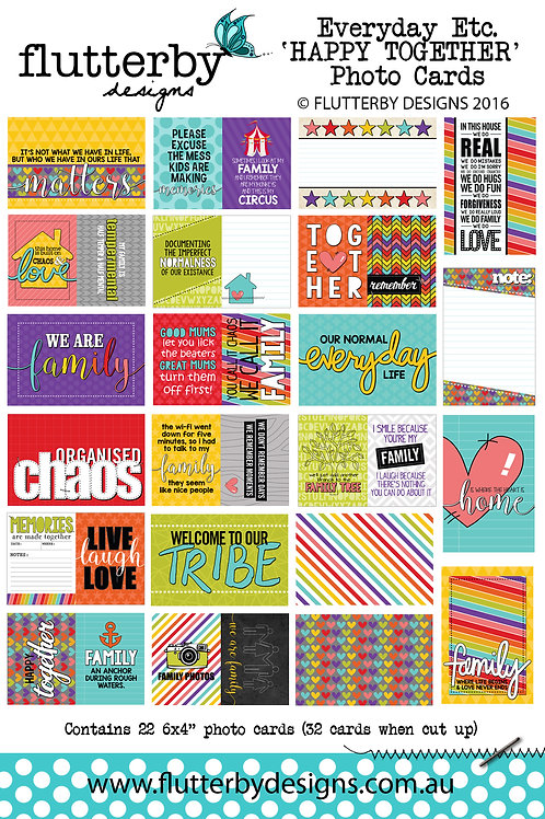 'HAPPY TOGETHER' Everyday Etc Cards