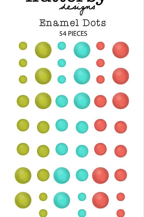 Enamel Dots - Christmas