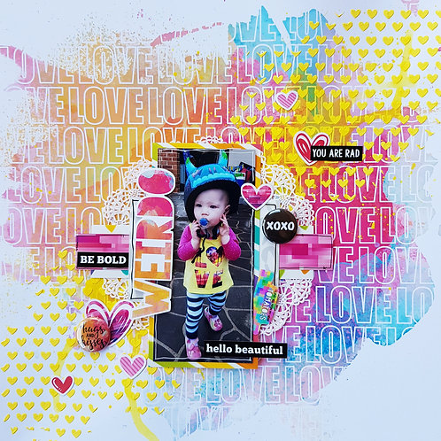 LAYOUT KIT - 'WEIRDO' inspired by Adele Toomey