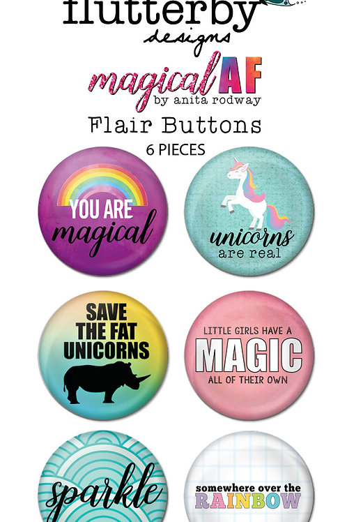 'Magical AF' FLAIR BUTTONS Set 1