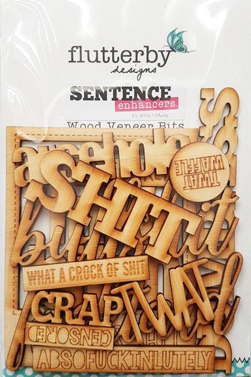 'Sentence Enhancers' Wood Veneers Bits