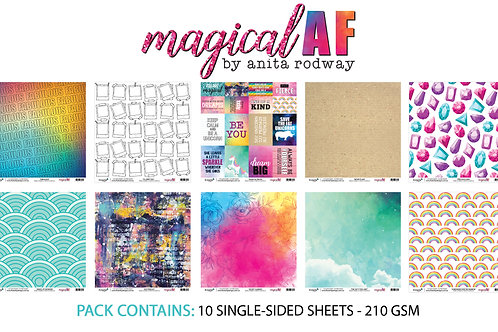 12x12 'Magical AF' Paper Pack