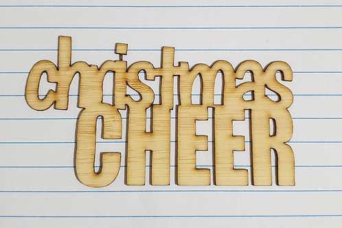 Christmas Cheer wood veneer