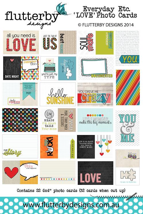 'LOVE' Everyday Etc Cards