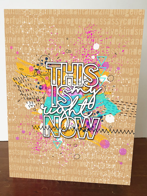 `This Is My Right Now - Brown' A5 Book Cover