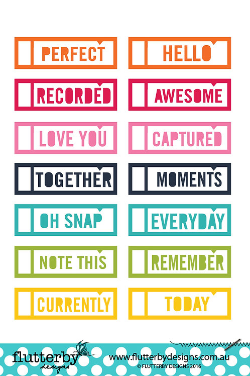 Word Labels - Photo Cut Outs