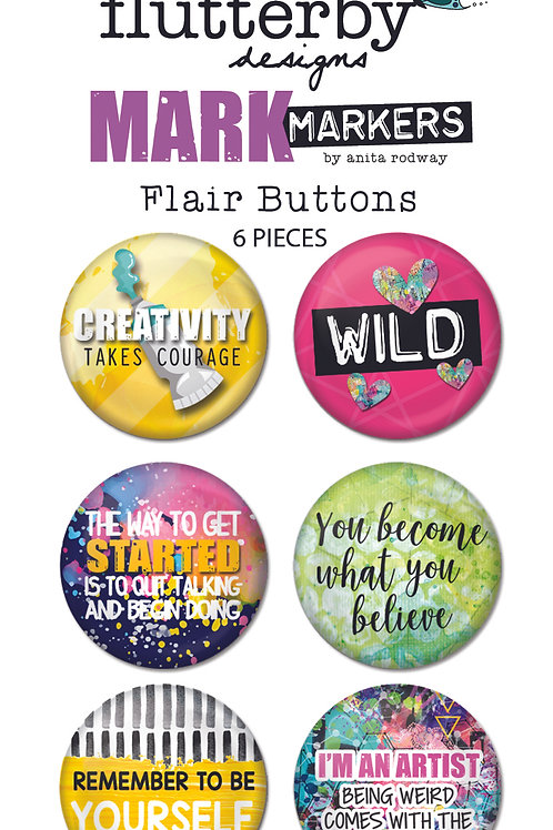 'Mark Makers' FLAIR BUTTONS Set 2
