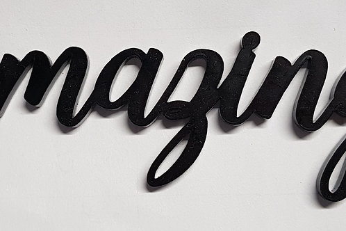 'Amazing' Black Acrylic Title