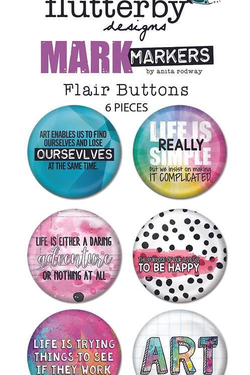 'Mark Makers' FLAIR BUTTONS Set 1