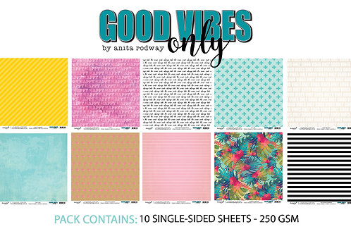 12x12 'Good Vibes Only' Paper Pack