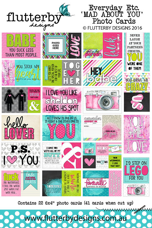 'MAD ABOUT YOU' Everyday Etc Cards