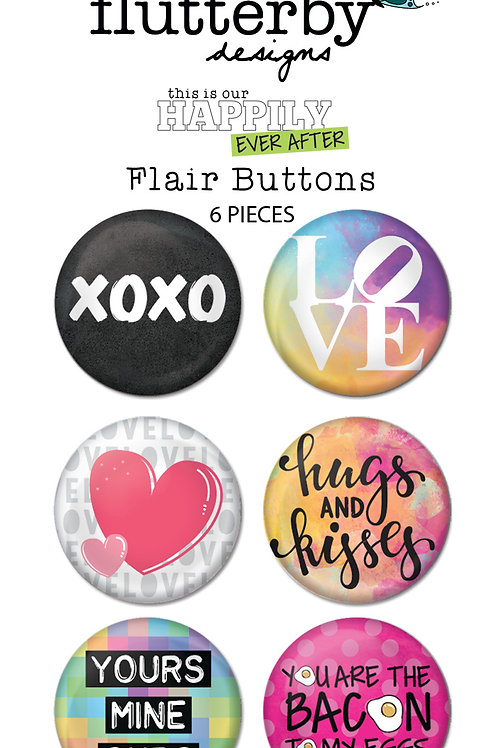 'Happily Ever After' FLAIR BUTTONS Set 1