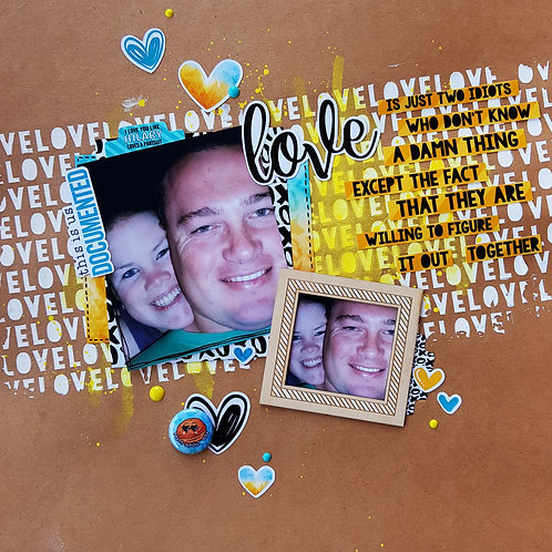 LAYOUT KIT - 'LOVE' inspired by Tamara Buckler