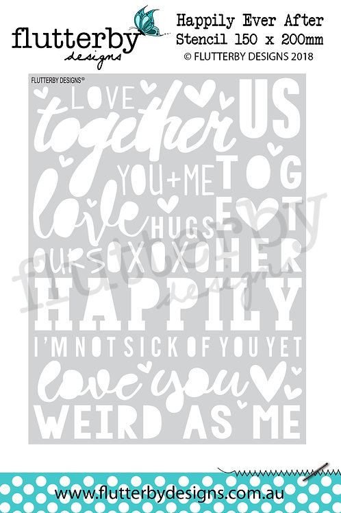 'Happily Ever After' Stencil 150 x 200mm