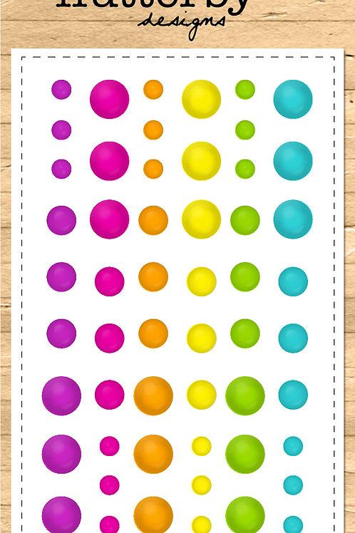 Enamel Dots - NEON