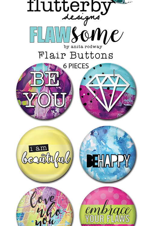 'FLAWSOME' FLAIR BUTTONS - SET 1