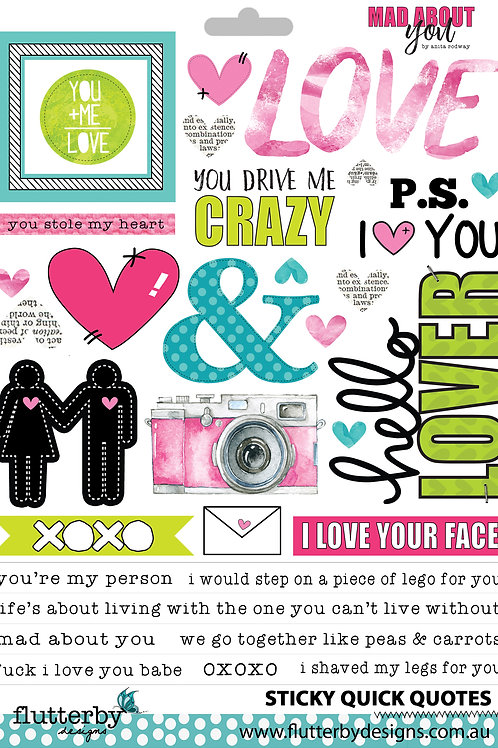 'Mad About You' Sticky Quotes