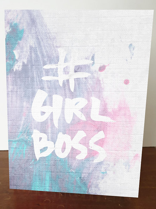 `Girl Boss' A5 Book Cover
