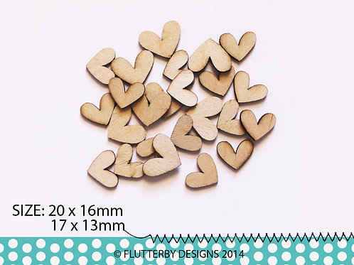 'Small Hearts' Wood Veneers