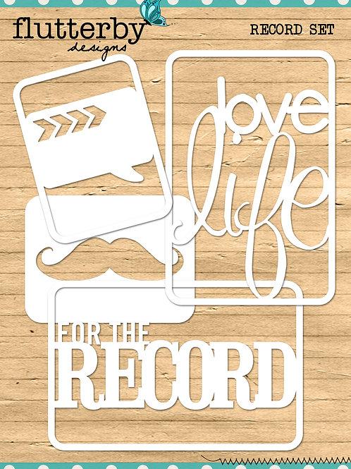 'RECORD' Fussy Cuts