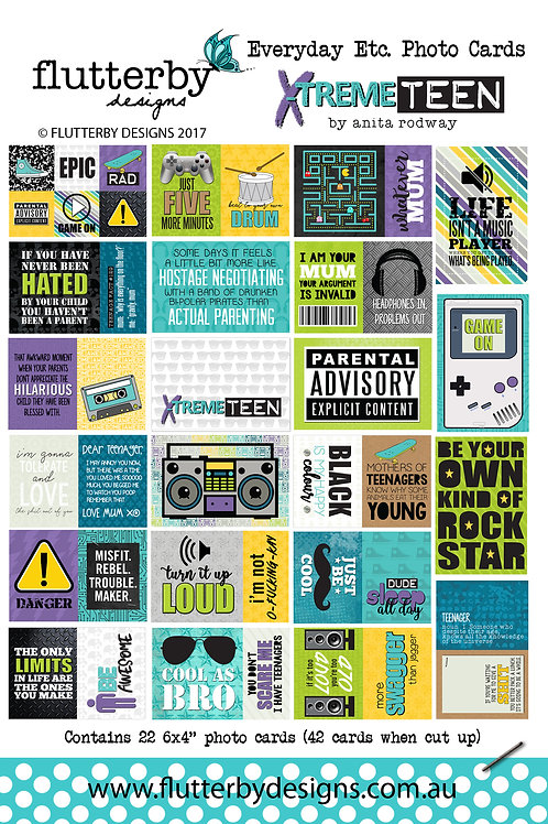 'XTREME TEEN' Everyday Etc Cards