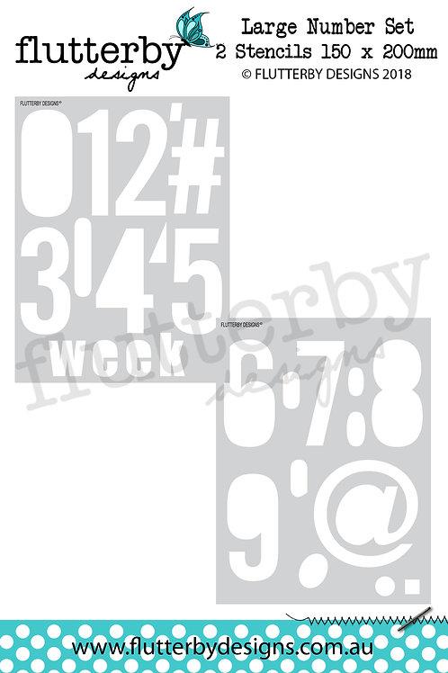 Large Number Set' 2 Stencils 150 x 200mm