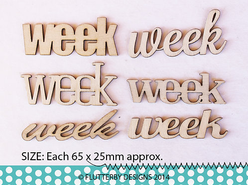 'Week' Variety Pack Wood Veneers