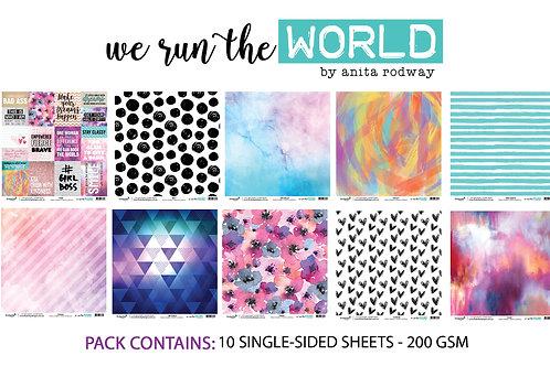 12x12 'We Run The World' Paper Pack
