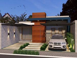 Projeto 3d- Fachada Casa