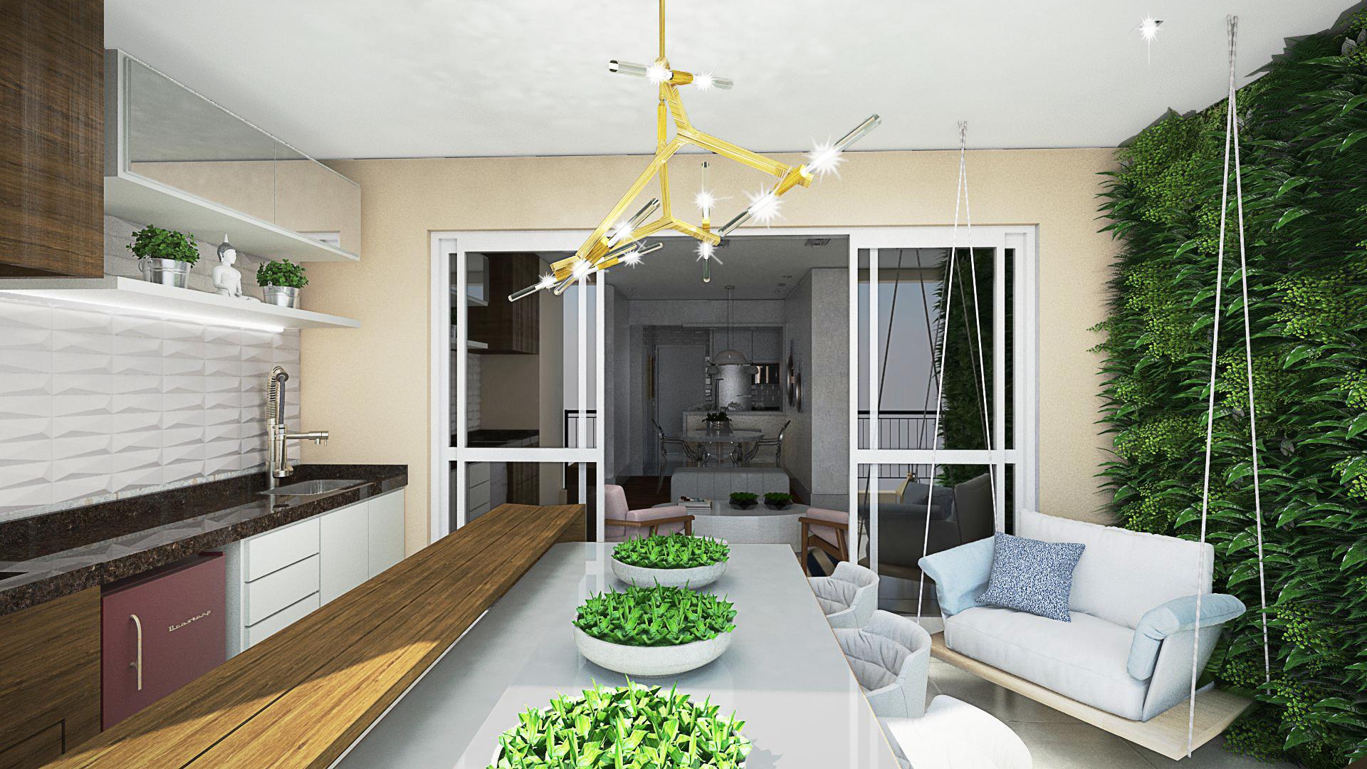 Projeto Varanda Gourmet- 3D