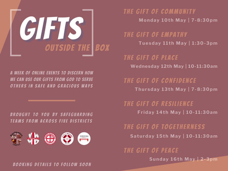 Gifts outside the box - free online events!