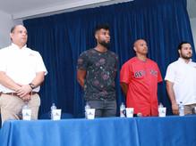 Rueda de prensa de Comfenalco Cartagena y la Asociación de Ex-beisbolistas de Grandes Ligas