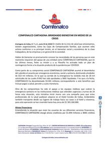 COMFENALCO CARTAGENA: BRINDANDO BIENESTAR EN MEDIO DE LA CRISIS